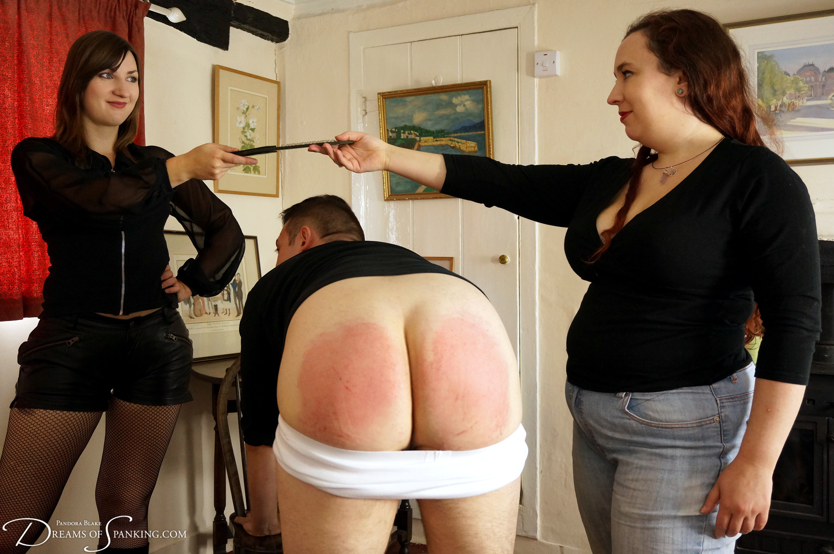 Spank front of