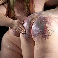 Join the site to view Glitter Spanking - part 2 and all other spanking scenes