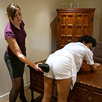 Join the site to view Sent to the Headmistress and all other spanking scenes