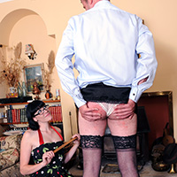 Join the site to view The Loose Hem and all other spanking scenes