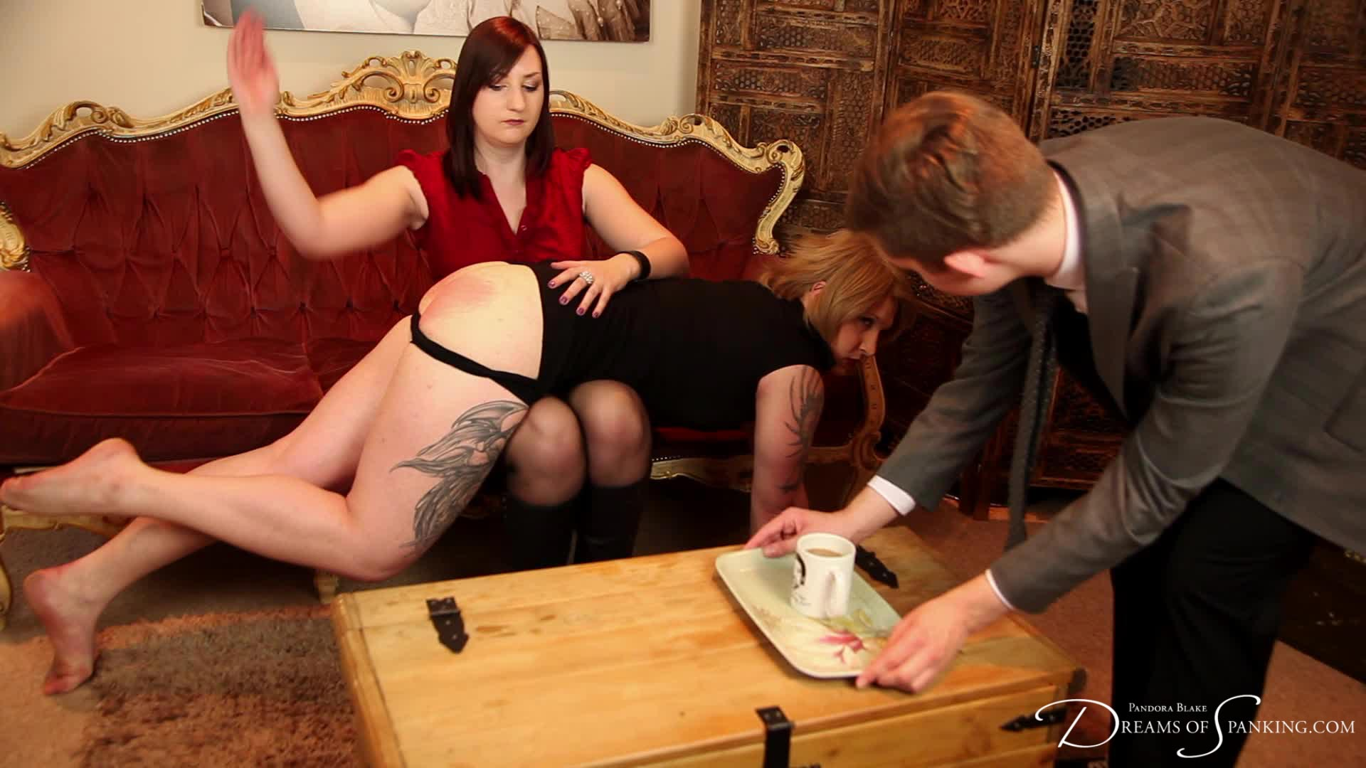 Houseboy: an award-winning tale of dominance, submission and jealousy starring Pandora Blake, Tai Crimson and Eliza Grey.