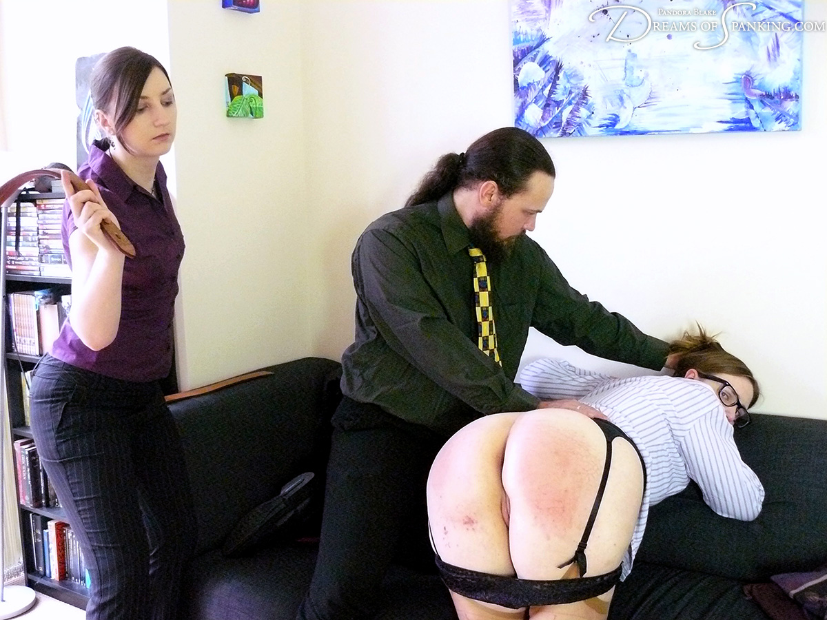 Alex Reynolds thrashed with the tawse at Dreams of Spanking