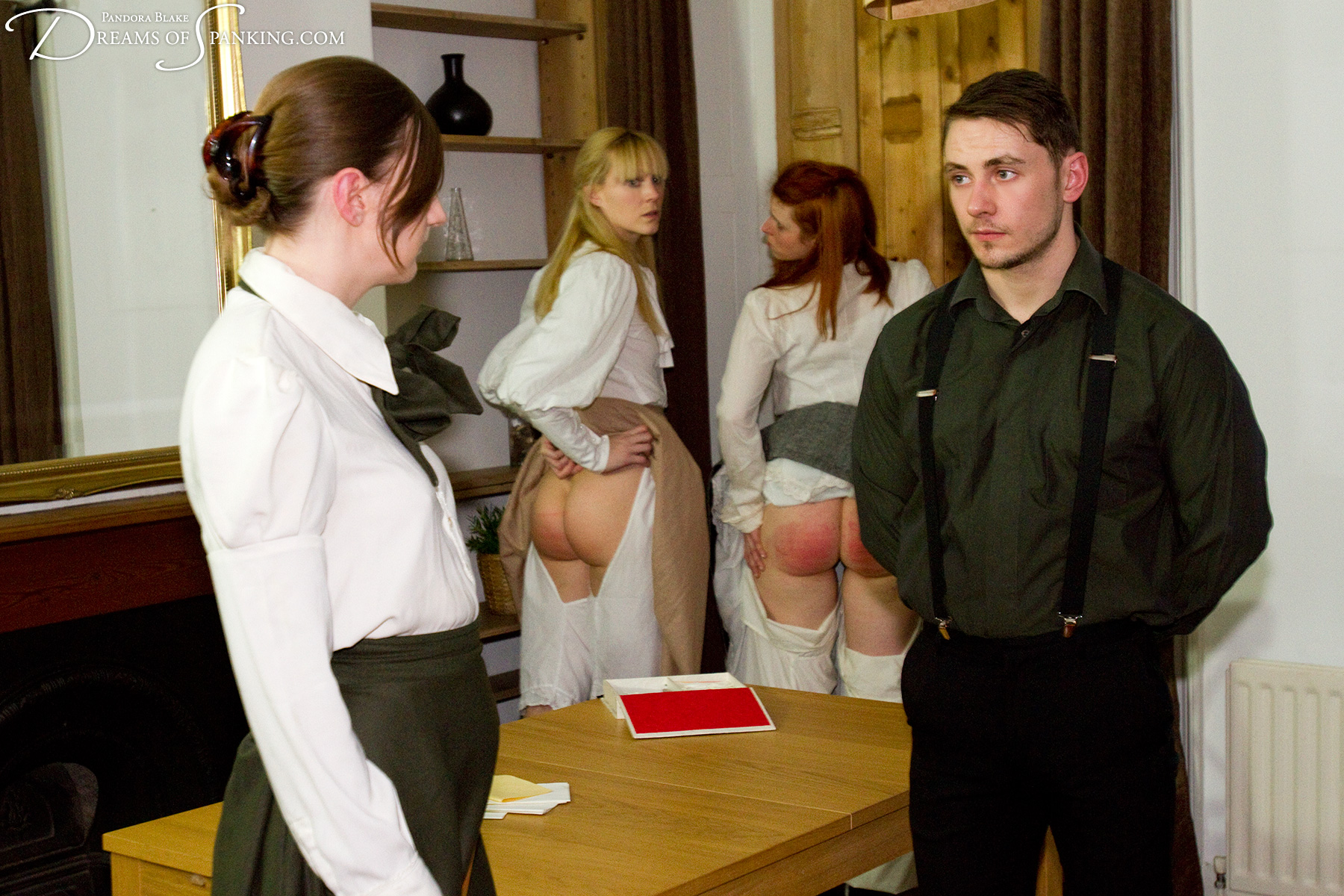 Caned by the Edwardian governess at Dreams of Spanking