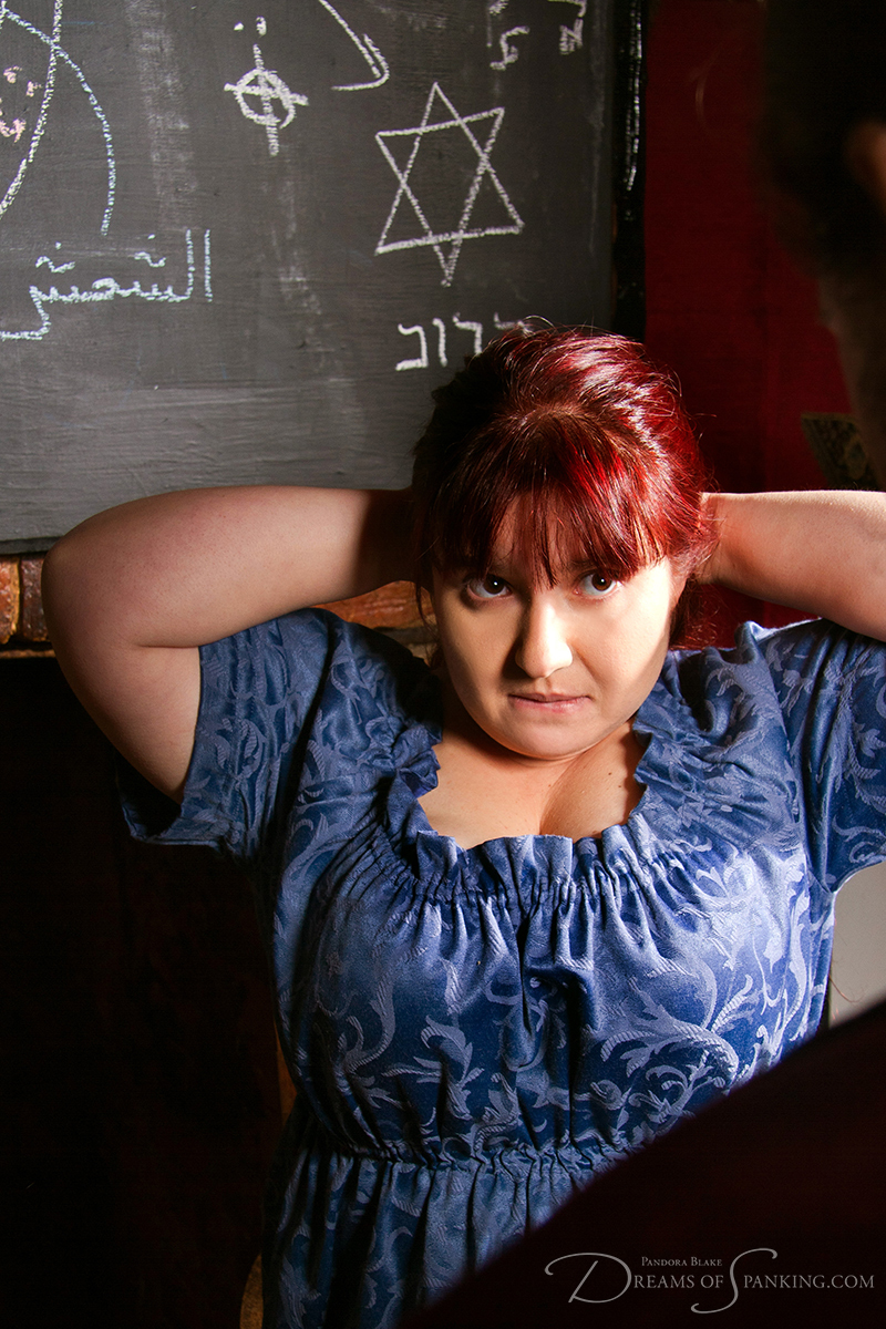 Adele Haze waits for a spanking at Dreams of Spanking
