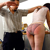 Preview thumbnail : Join the site to view Messy Kitchen and all other spanking scenes