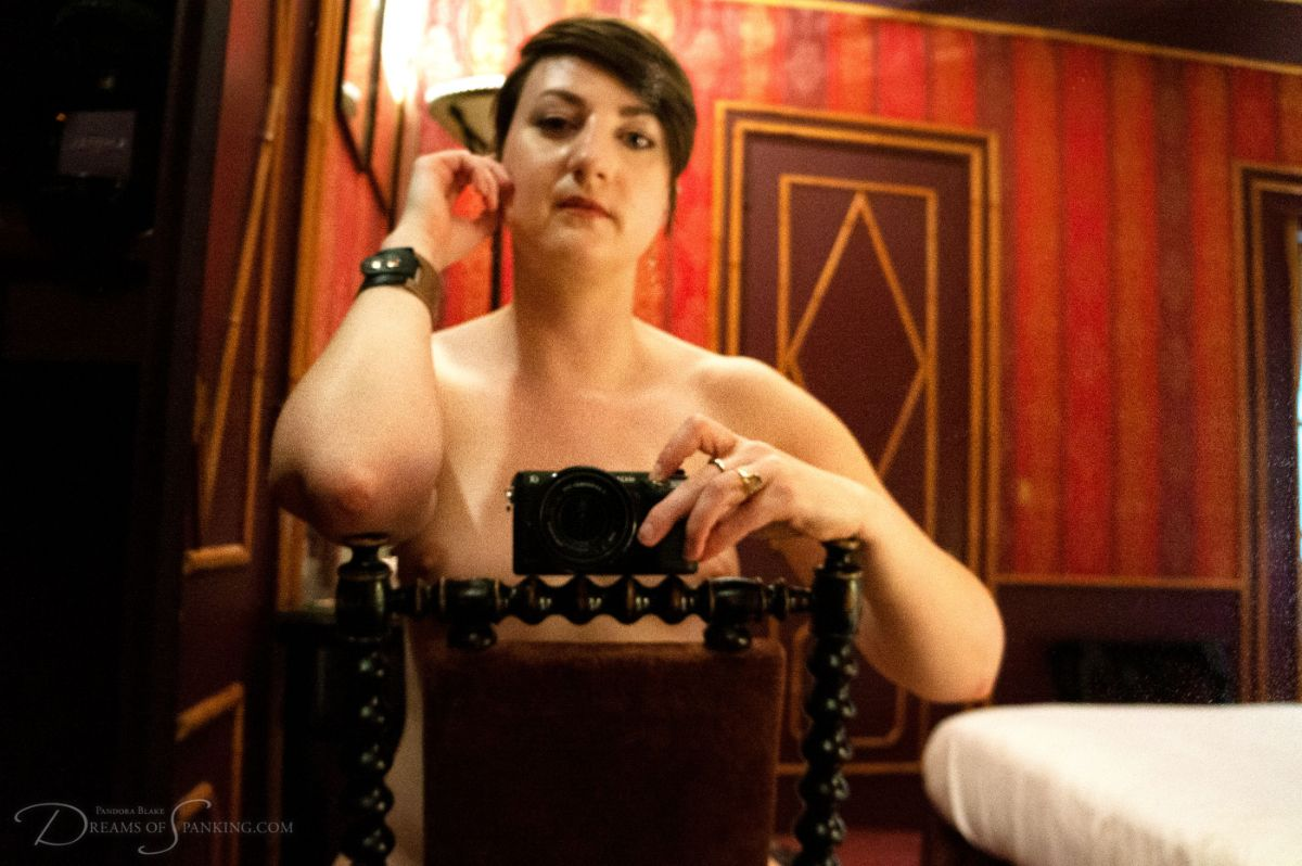 Pandora Blake takes erotic self portraits at Dreams of Spanking