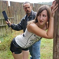 Preview thumbnail : Join the site to view Leather Shorts and all other spanking scenes