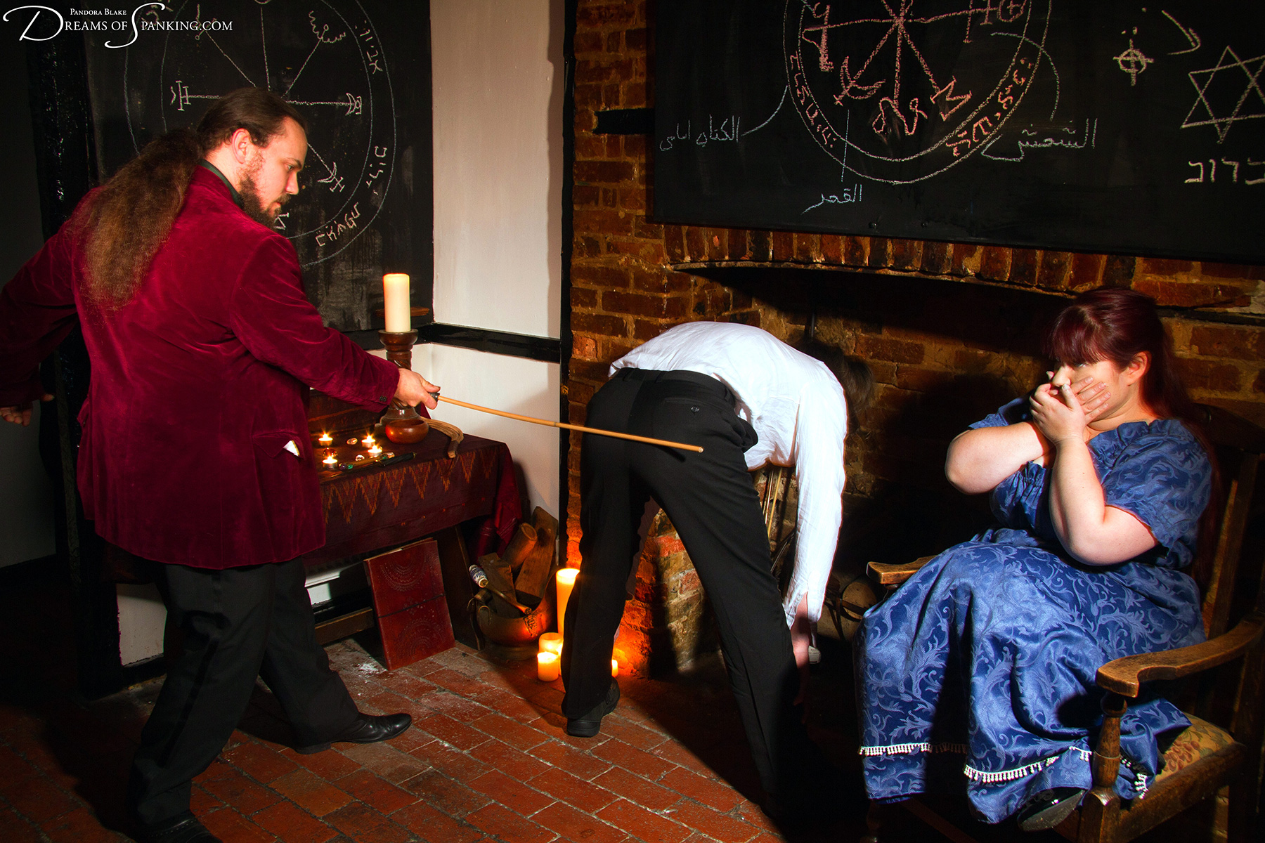 The Magician's Apprentice is in hot water at Dreams of Spanking