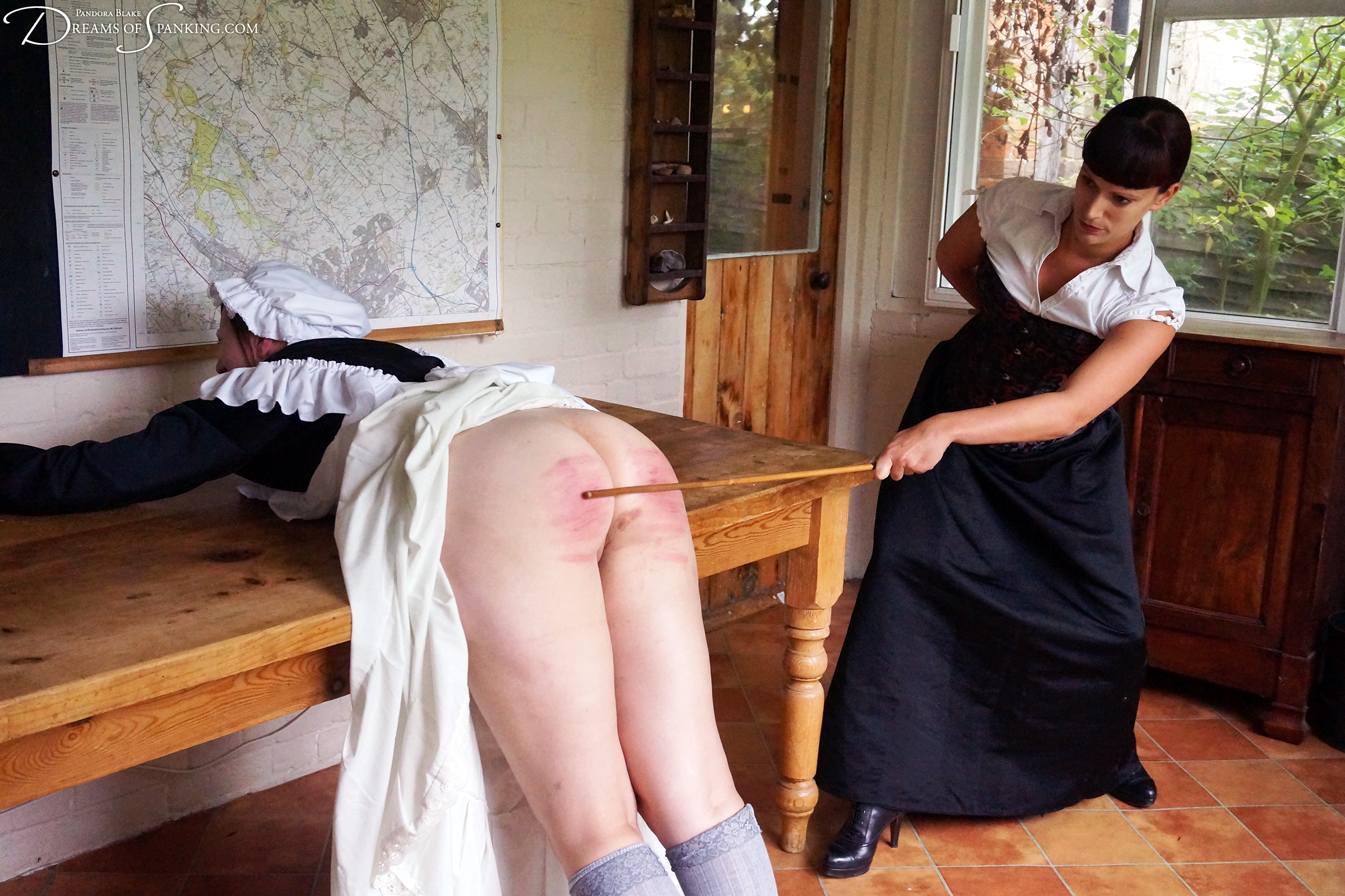 Oh uncle the maid spank