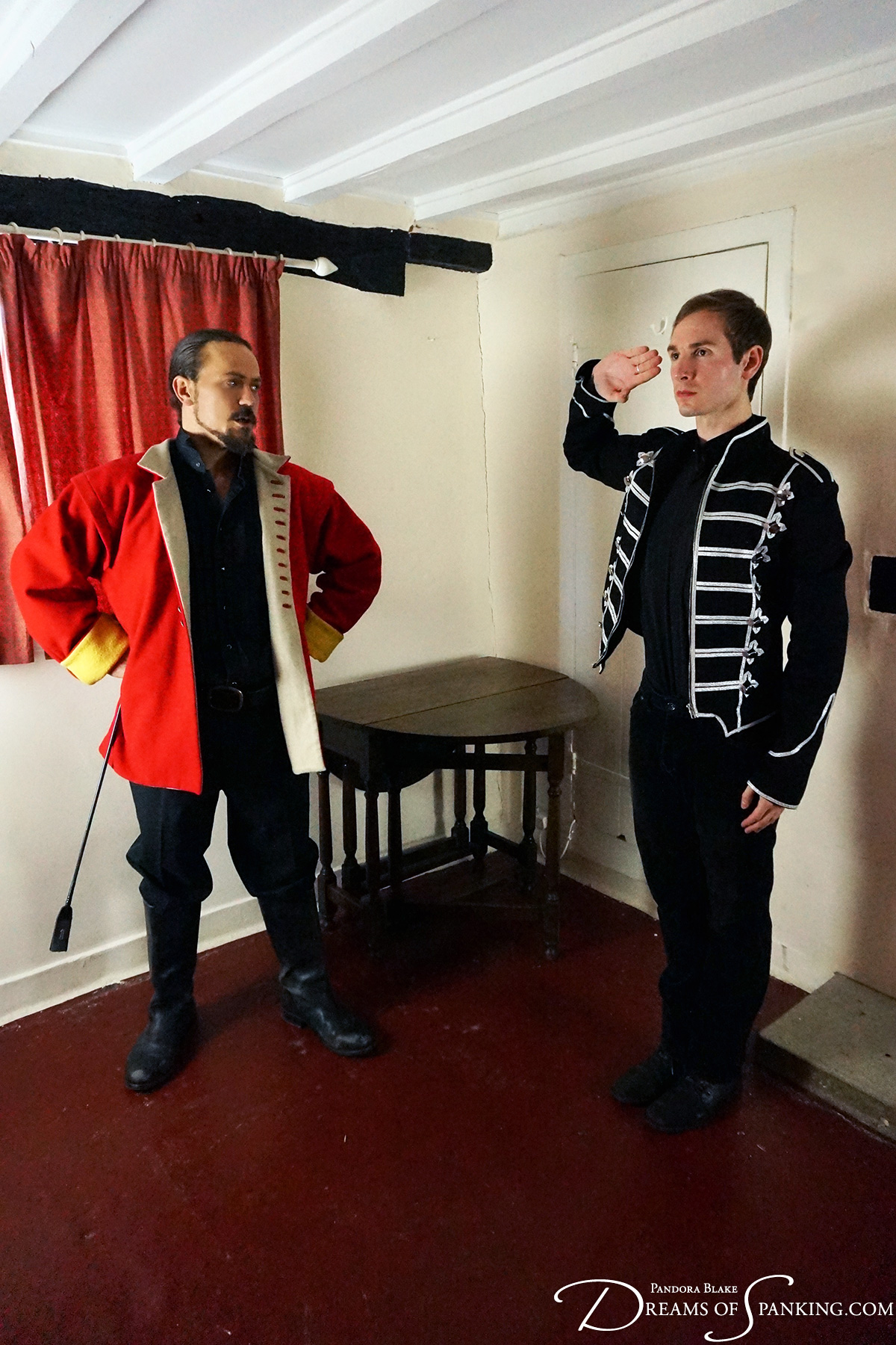 The young Lieutenant Shada salutes his commanding officer after a stern military punishment