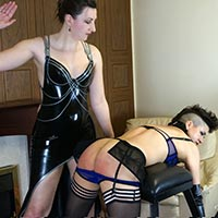 Join the site to view Meet Ms Vixxxen and all other spanking scenes