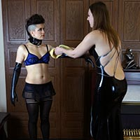 Behind the scenes photo 1 from Meet Ms Vixxxen at Dreams of Spanking