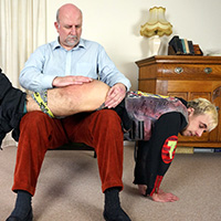 Join the site to view Turn That Music Down! and all other spanking scenes