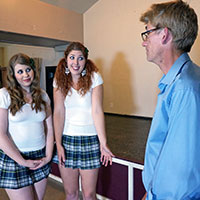 Behind the scenes during the filming of The Other School - Dreams of Spanking