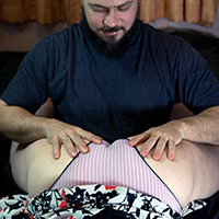 Behind the scenes photo 1 from Over His Knee at Dreams of Spanking