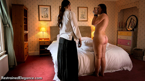 50 cold cane strokes for Pandora Blake from her real life partner D