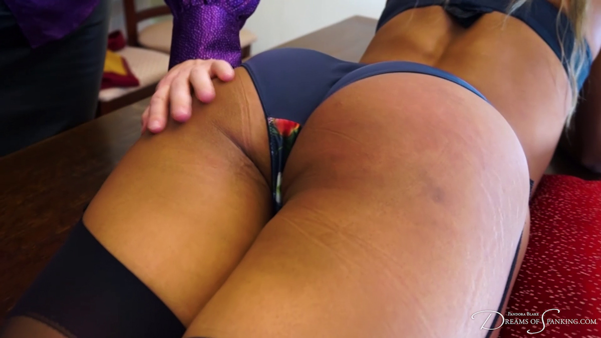 Lana Moon's bare bottom ready for a flogging Dreams of Spanking