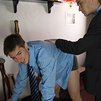 Behind the scenes photo 1 from The Prefect and the Fag at Dreams of Spanking