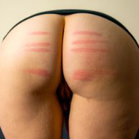 Preview thumbnail : Join the site to view Provoking a Caning and all other spanking scenes