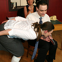 Behind the scenes photo 2 from Punishment by Proxy at Dreams of Spanking