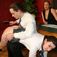 Behind the scenes photo 4 from Punishment by Proxy at Dreams of Spanking