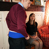 Join the site to view School Report and all other spanking scenes
