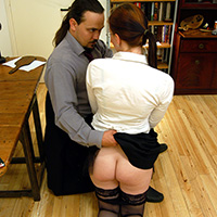 Preview thumbnail : Join the site to view Over the Boss' Knee and all other spanking scenes