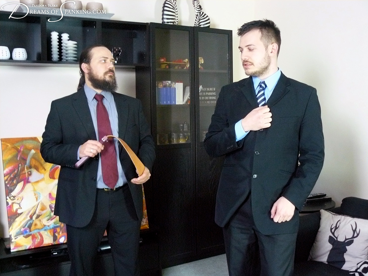 Michael gets the strap from his boss at Dreams of Spanking