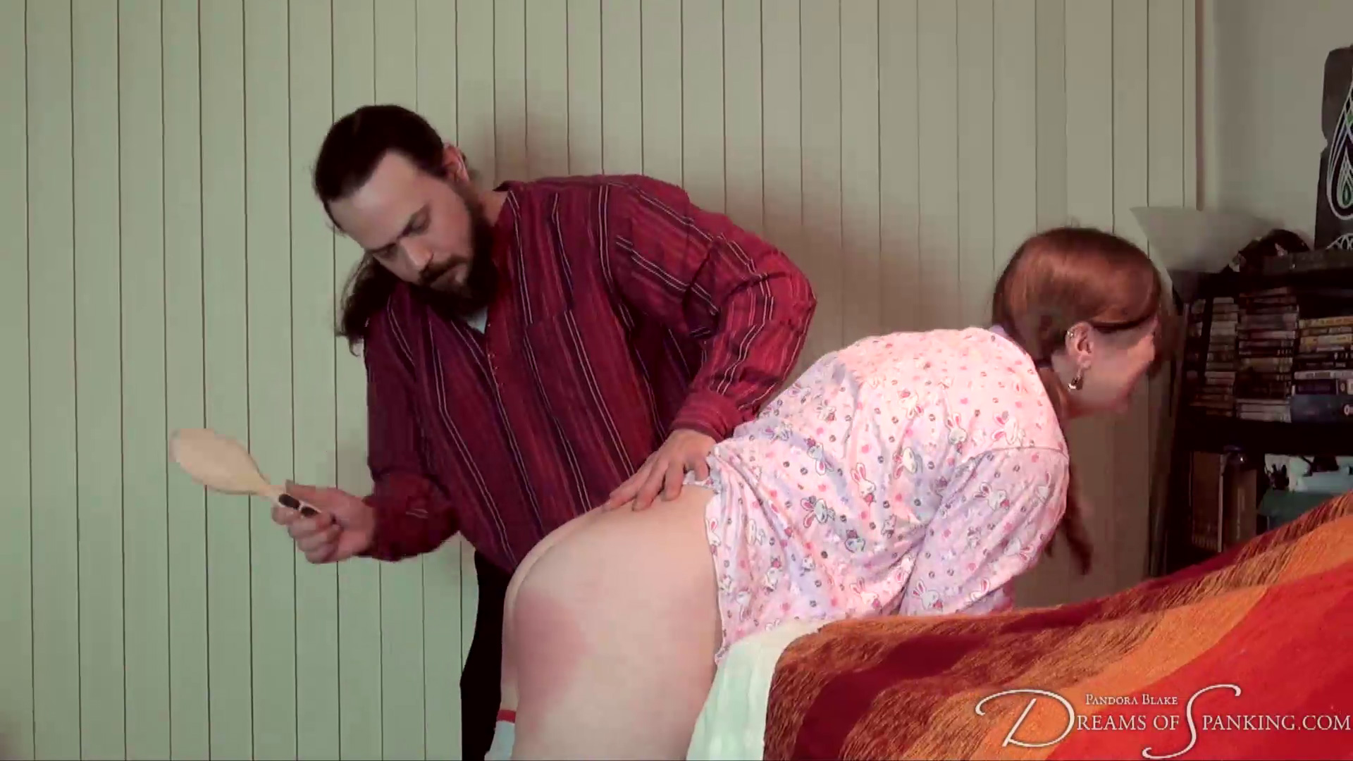 Alex Reynolds and Pandora Blake spanked for building a sofa fort, at Dreams of Spanking