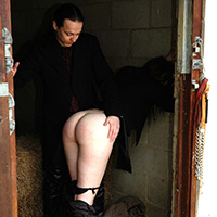 Preview thumbnail : Join the site to view Caned in the Stables and all other spanking scenes