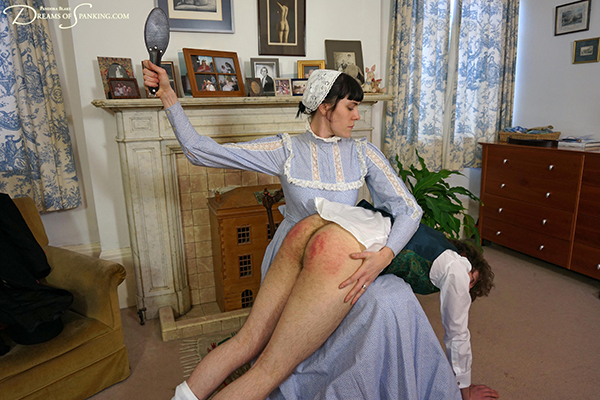 Victorian spanking from Alexander's strict stepmother at Dreams of Spanking