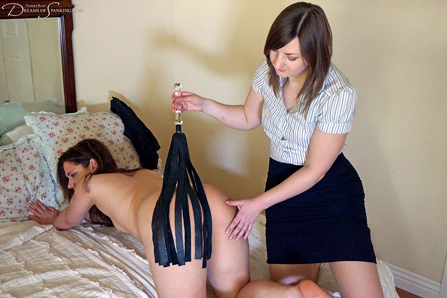 Ten Amorette spanked and flogged in the nude by Pandora Blake at Dreams of Spanking