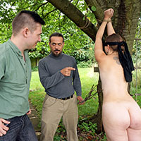 Preview thumbnail : Join the site to view Surprised in the Garden and all other spanking scenes