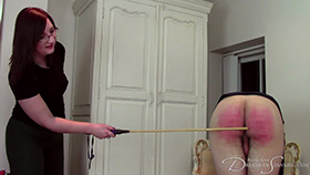 Behind the scenes screengrab 1 from The Training of Tai Crimson at Dreams of Spanking