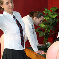 Behind the scenes photo 2 from A Taste of their Own Medicine at Dreams of Spanking