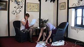 Join the site to view The Taxman Cometh and all other spanking scenes
