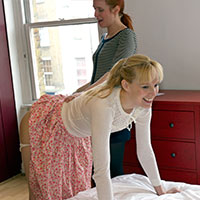 Behind the scenes with Caroline Grey and Amelia Jane Rutherford at Dreams of Spanking