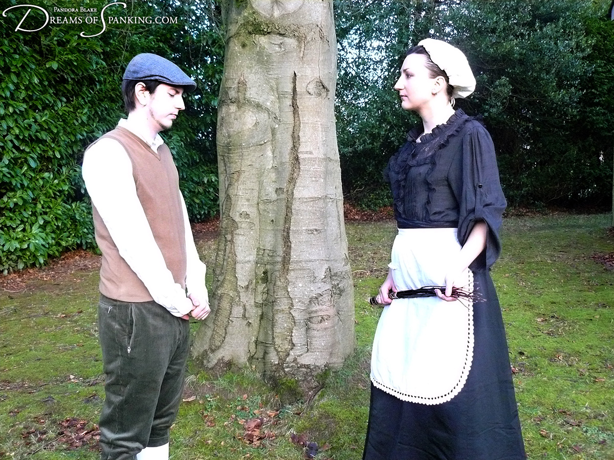 The Undergardener's Birching, starring Pandora Blake and Sebastian Hawley