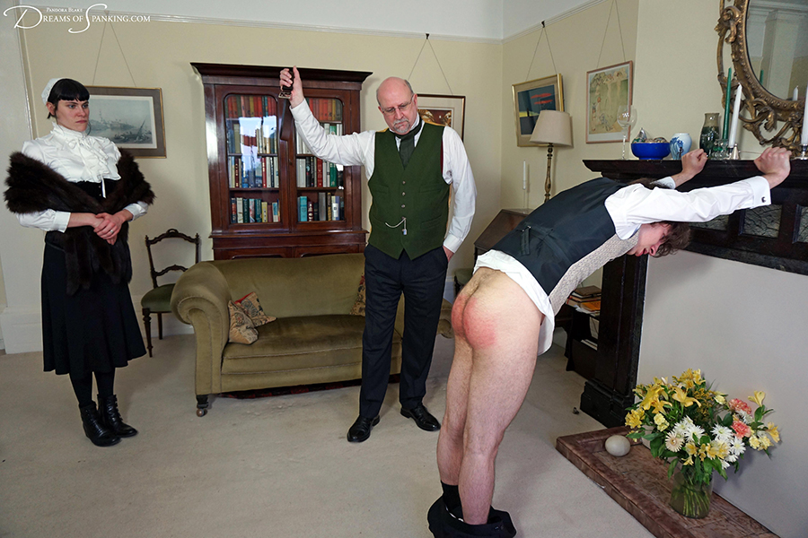 Victorian domestic belt thrashing at Dreams of Spanking