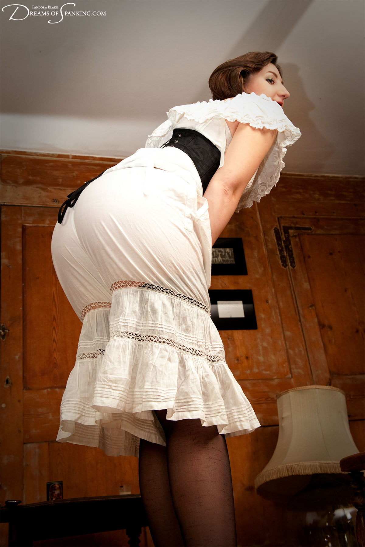 Victorian wench Pandora Blake is punished by Thomas Cameron at Dreams of Spanking
